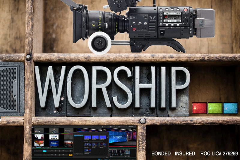 Professional broadcast media products for worship