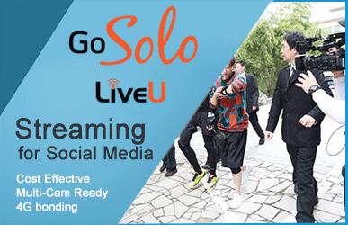 LiveU Solo 4G bonded Social Media Streaming Live