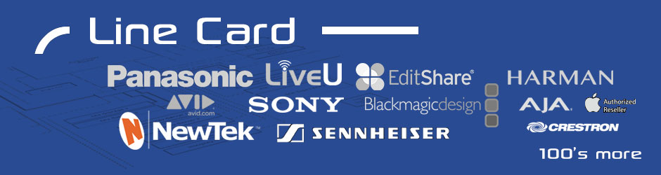video product lines plus hundreds more, Avid, Apple, Panasonic, Sony, LiveU